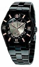 Roberto Cavalli R7253616045 Diamond Time Black Chronograph Date Mens Swiss Watch