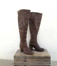 Fiorentini and Baker Over the Knee Brown Leather Boots Heeled Ladies Size 38