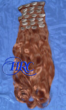 "24"" RED EUROPEAN QUALITY HUMAN HAIR EXTENSION 14 CLIP ON IN WEFT REMI QUALITY"