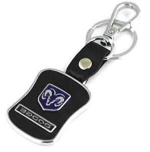 LG68 PU Leather Black Buckle Keyring For Dodge Car Logo Key Ring Chain Keychain
