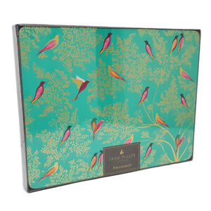 Sara Miller London Placemats Green Birds Set of Four Cork Based from Portmeirion