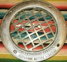 """Vintage Underwater Swimming Pool Round Brass Grille Frame Submersible Light 11"""""""