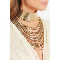 Necklace Metal Chain Choker Maxi Statement Wedding Chokers Fashion Jewelry