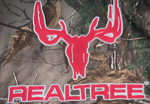 """Realtree Xtra   Camouflage Hoodie Pink Logo Women's Size XL 46"""""""
