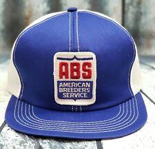 Vintage  AMERICAN BREEDER  Snapback Trucker Hat Mesh Patch Cap K Brand USA