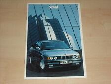 64310) BMW 5er Reihe E34 524td Prospekt 02/1990