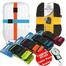 4 Pcs Couleur combinaison bagages sangle Heavy Duty ADJ 1.7 m + Cabine case & écailles