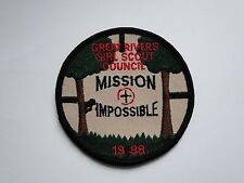 Aufnäher /Patch  Girl Scout  Council  Mission Impossible ca 8  cm