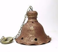Vintage Mid Century Hanging Ceiling Lamp Studio Pottery Ceramic Light
