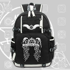 SPN Supernatural Dean' wing Backpack Knapsack Packsack School Student Bags