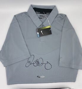 Upper Deck Rory Mcilroy Signed Autographed Nike Grey Golf Polo Limited #8/10 UDA
