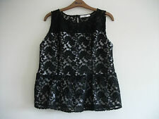 Oasis lace top size L, black, hardly worn, stunning, flattering fit.