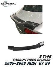 Carbon Fiber Rear Trunk Spoiler Wing For 2005-2008 Audi S4 B7 Sedan 4dr Type E