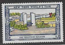 Usa Poster stamp:1939 New York World's Fair: Gas Industries Building - dw433/29