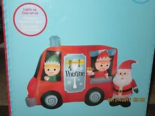 SALE $75 ~ 2015 GEMMY ~ SANTA AND ELVES ~ FRENCH  FRY TRUCK ~ INFLATABLE ~ RARE