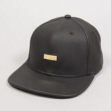 King Apparel Plashet 6 Panel Snapback Cap - Black - One Size [NEW]