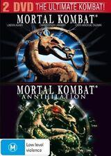 Mortal Kombat 1  / Mortal Kombat 2 (DVD, 2007, 2-Disc Set) Robin Shou