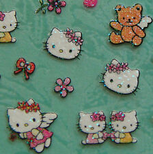 Nail Art 3D Sticker Glitter Decal Hello Kitty Teddy Bear Angle Flower 43 pcs