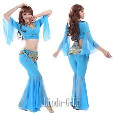 Sexy Yoga Belly Dance Costume 2 Pics Set Top + Pants 8 Colors 4/2