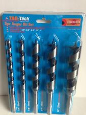 5 PC Auger Wood Drill Bits.  10mm, 13mm, 19mm, 22mm and 25mm X 200mm Length.
