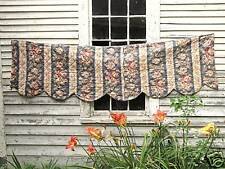 Antique French Pelmet or Valance Floral Fabric Vintage Textile