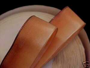 """Vintage Ribbon Ombre Rayon Acetate 7/8"""" Apricot 1yd Made in France"""