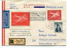 FFC 1958 Austrain Airlines AUA First Flight Wien Frankfurt Main Nied REGISTERED