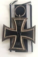 MEDAL INSIGNIA GERMAN WW1 ✠ IRON CROSS 2ND CLASS MAKER MARKED ON RING MFH ✠