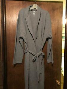 NEW ~ Men's Croft & Barrow® True Comfort Lightweight Knit Robe ~ Gray ~ sz L/XL