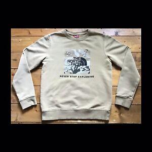 Authentic North Face Boys Camo Jumper. Size: L Kids (11-12yrs) VGC