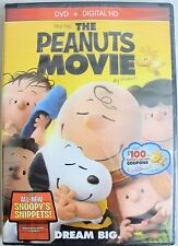 The Peanuts Movie Charlie Brown DVD 2016 Digital HD BRAND NEW SEALED Plus-Bonus