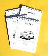 Fiat 500 Car Pack of 4, Small A6 Note Pads Gift Set