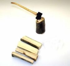 Sir Thomas Thumb Woodsman's Axe Chopping Wood Logs Set 1:12 Dollhouse Miniatures