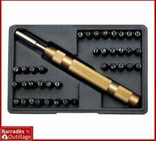 Coffret Lettres + Chiffres à frapper - Hauteur : 4 mm. Avec pointeau automatique