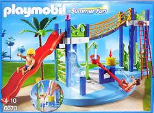 PLAYMOBIL 6670 Wasserspielplatz Wippe Rutsche Turm Leiter Brücke Dusche PalmeNEU