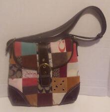 No Name  Brown & Multi Colored Fabric Handbag