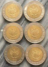 EC 100 012 Indonesia Coin 1000 Rupian ( 6 coin - set )