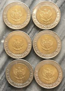 EC 100 012 Indonesia Coin 1000 Rupian ( 6 coin - set )