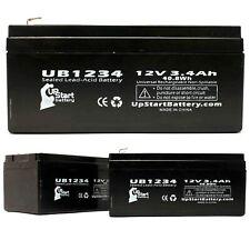 3-pack APC BACK-UPS ES BE350G Battery UB1234 12V 3.4Ah Sealed Lead Acid SLA AGM