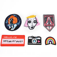 22Style Patch Embroidered Iron On Applique patches forClothes Apparel Bag DIY LJ