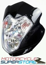 UNIVERSAL AURA MOTORCYCLE MOTORBIKE STREETFIGHTER STYLE HEADLIGHT FAIRING BLACK
