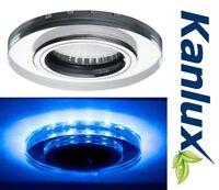 Mains Fixed LED Recessed Downlight Ceiling Spotlight GU10 2 Tone Blue Spot Light