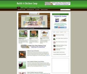 BUILD A CHICKEN COOP AFFILIATE WEBSITE + NEW DOMAIN AND FULL INSTALLATION