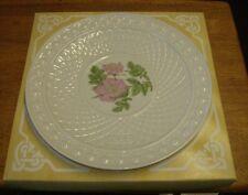Belleek  parian china Christmas 1986 decorative plate MIB  Irish Rose Ltd Ed