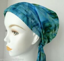 Hand Dyed Batik Chemo Cancer Hats Alopecia Hair Loss Scarves Turban Head Wrap