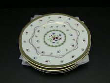 Faberge Luxembourg-Green Salad Plates / Set of 4 / Excellent