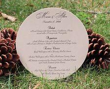 Wedding or Party Menu Card Gold Metallic Card Stock