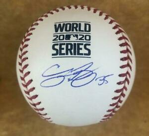 CODY BELLINGER LOS ANGELES DODGERS SIGNED 2020 WORLD SERIES BASEBALL MLB HOLO.