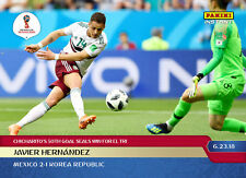 2018 JAVIER HERNANDEZ CHICHARITO's 50th GOAL PANINI INSTANT WORLD CUP CARD #58