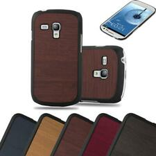 Hard Cover for Samsung Galaxy S3 MINI Shock Proof Case Wooden Style Rigid TPU